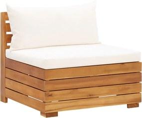 Sofá de centro seccional c/ almofadões madeira de acácia maciça