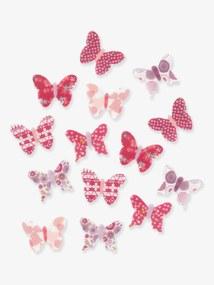 Lote de 14 decorações com borboletas, para quarto de menina multicolor