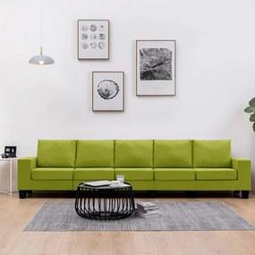 Sofá de 5 lugares em tecido verde