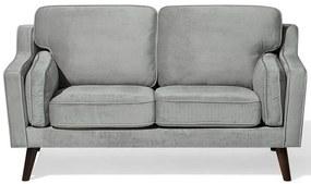 Sofá de 2 lugares em veludo cinzento claro LOKKA