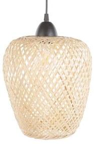 Candeeiro de teto de bambu castanho claro BOMU