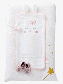 Colchão de mudas, tema Princesa coelhinha branco/rosa