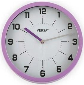 Relógio de Parede (4,5 x 30,4 x 30,4 cm) Roxo