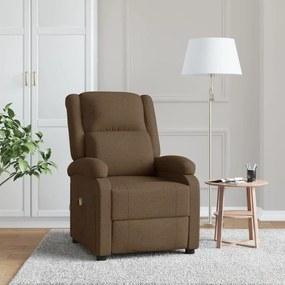 248700 vidaXL Cadeira de massagens reclinável tecido castanho