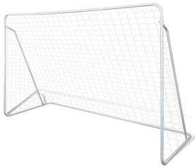 90572 vidaXL Baliza de Futebol, de Aço, 240 x 90 x 150 cm, de Alta Qualidade