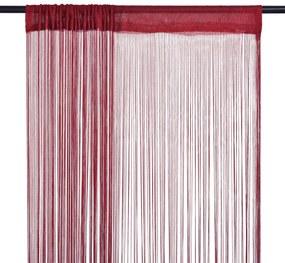 Cortinas de fios 2 pcs 140x250 cm bordô