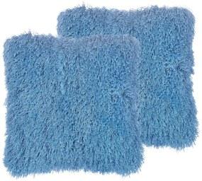 Conjunto de 2 almofadas decorativas azuis 45 x 45 cm CIDE