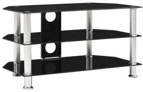249539 vidaXL Móvel de TV 75x40x40 cm vidro temperado preto