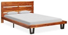 325284 vidaXL Estrutura de cama c/ aresta viva madeira de acácia maciça 120 cm