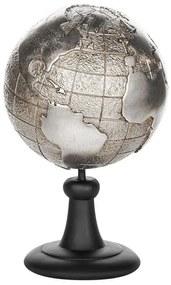 Estatueta decorativa prateada EARTH