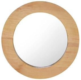 288805 vidaXL Espelho de parede redondo 40 cm madeira de teca