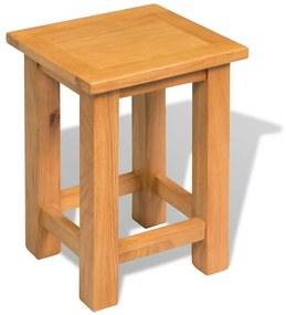 244207 vidaXL Mesa de apoio 27x24x37 cm madeira de carvalho maciça