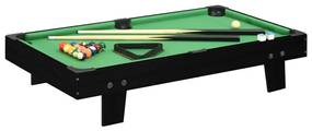Mini mesa de bilhar 92x52x19 cm preto e verde