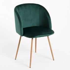 Cadeira Ornes Veludo Cor: Verde Escuro