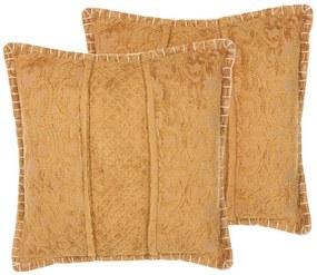 Conjunto de 2 almofadas amarelas 45 x 45 cm KAVALAM
