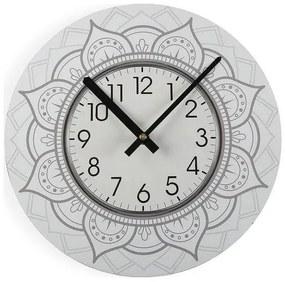 Relógio de Parede Mandala Madeira (4 x 29 x 29 cm)