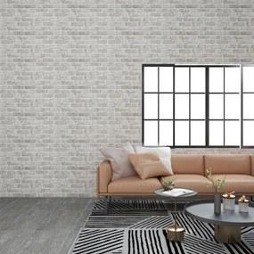 147199 vidaXL Painéis de parede 3D design tijolos cinzento-claro 11 pcs EPS