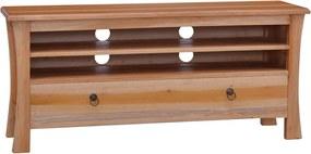 Móvel de TV 100x30x45 cm madeira de mogno maciça