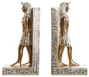 Boekensteun DKD Home Decor Egípcio Resina (2 pcs) (9.5 x 7.5 x 20.5 cm)
