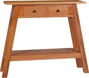 Mesa consola 90x30x75 cm madeira de mogno maciça