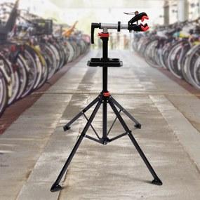 HOMCOM Suporte Tipo Cavalete para Reparação de Bicicletas - Tubo PP + aço Q195 - 65,5x50x109-180 cm