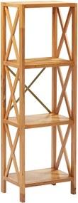 Estante com 4 prateleiras 40x30x125 cm madeira carvalho maciça