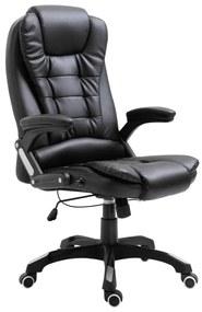 Cadeira de Escritório em Pele Sintética Preto