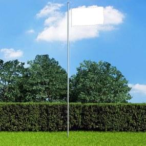 146069 vidaXL Mastro de bandeira seccional 6,2 m alumínio