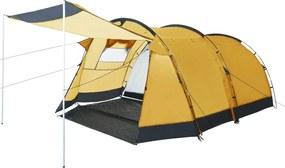 Tenda de campismo em túnel para 4 pessoas amarelo