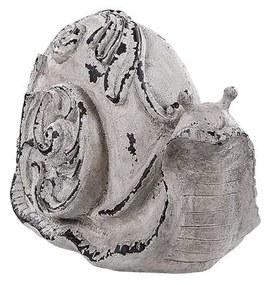 Estatueta de jardim na forma de caracol cinzento CHIBA