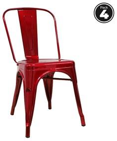 Pack 4 Cadeiras Torix Metalizadas