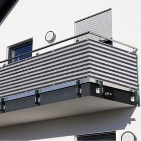 Outsunny 2 Peças de Revestimento de Varanda 500x90cm Tela de proteção de privacidade HDPE Cinza e Branco