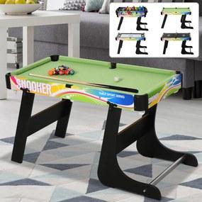 HOMCOM Mesa de vários jogos projeto 4 em 1 pebolin Hóquei Bilhar ping - pong 86.5x43.5x64 cm