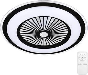 Brilagi - Iluminação LED com regulação e ventoinha RONDA LED/65W/230V preta