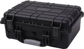 Caixa de equipamento protetora 40,6x33x17,4 cm preto