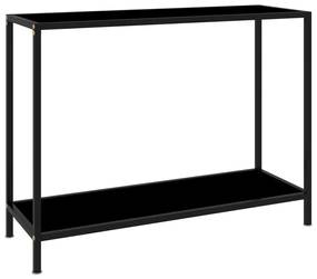 322836 vidaXL Mesa consola 100x35x75 cm vidro temperado preto