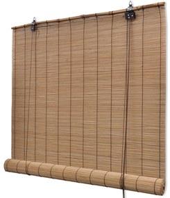 245814 vidaXL Estore/persiana em bambu 100x220 cm castanho