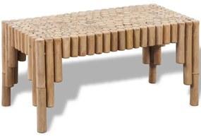 242489 vidaXL Mesa de centro em bambu