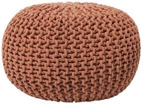 Puff redondo em tricô 40 x 25 cm cobre CONRAD