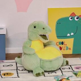 Sofá em forma de dinossauro para crianças acima de 18 meses