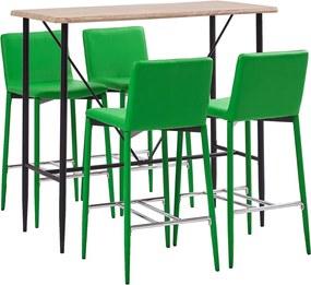 Conjunto de Bar Couro Artificial Verde 5 pcs