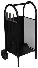 Suporte para Lenha DKD Home Decor Acessórios Lareira Aço (42 x 36 x 81 cm)