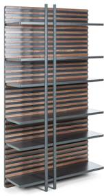 Kave Home - Estante Kesia 106 x 183 cm chapa de nogueira
