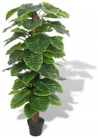 244433 vidaXL Planta taro artificial com vaso 145 cm verde