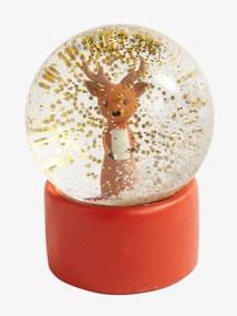 Bola de neve Rena laranja claro liso com motivo