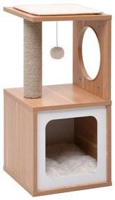 170925 vidaXL Árvore para gatos com tapete arranhador sisal 60 cm