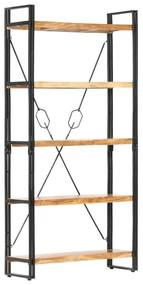 286587 vidaXL Estante com 5 prateleiras 90x30x180cm madeira de acácia maciça