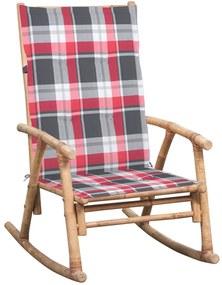 3063916 vidaXL Cadeira de baloiço com almofadão bambu
