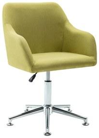 Cadeira de Escritório Giratória Tecido Verde