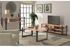 274708 vidaXL Conjunto de móveis de sala 3 pcs madeira de acácia maciça